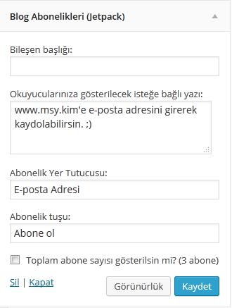 wordpress eposta