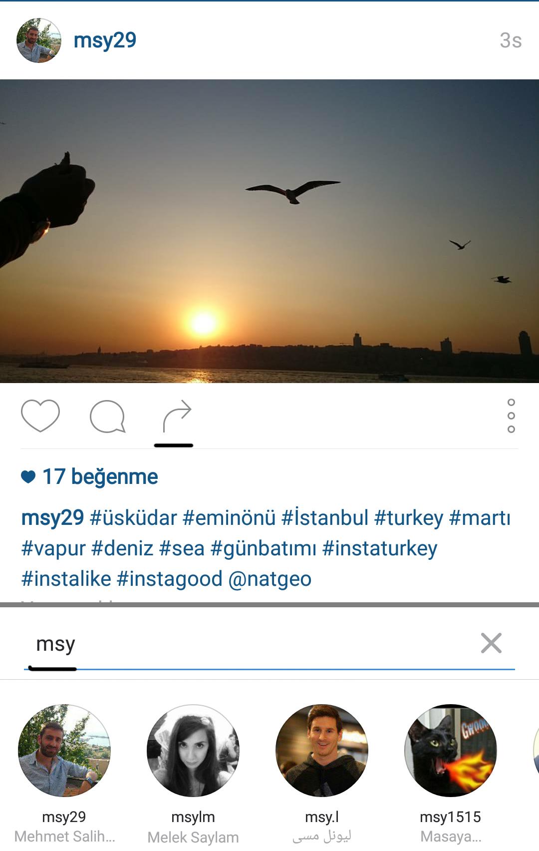 instagram paylaş
