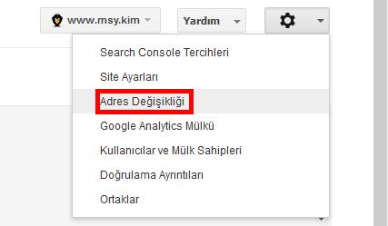 google adres değişikliği