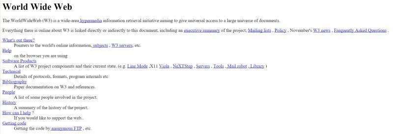 dunyanin ilk web sitesi